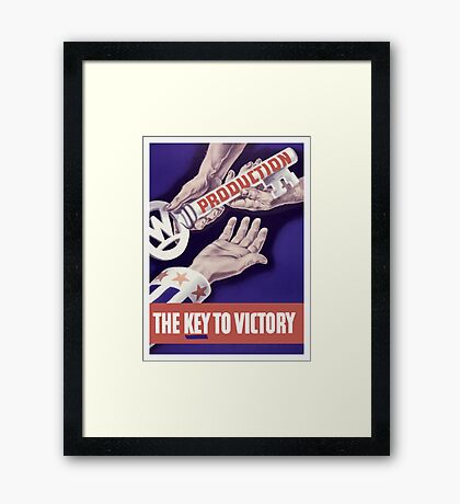 Production The Key To Victory -- WW2 Framed Print