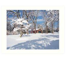 Landis Valley Winter Art Print