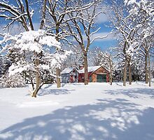 Landis Valley Winter by purplefoxphoto