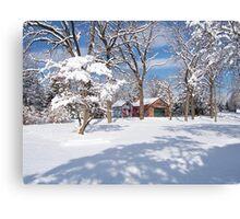 Landis Valley Winter Canvas Print