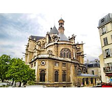 Just Another Paris Cathedral  Photographic Print