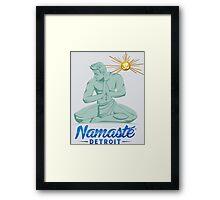 Namaste Detroit Full Color Framed Print
