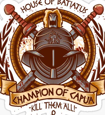 Champion of Capua Sticker
