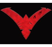 Nightwing Damaged (Red) Photographic Print