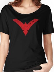 Nightwing Damaged (Red) Women's Relaxed Fit T-Shirt