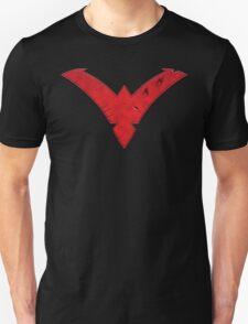 Nightwing Damaged (Red) Unisex T-Shirt