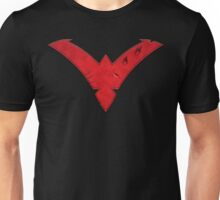 Nightwing Damaged (Red) Unisex T-Shirt