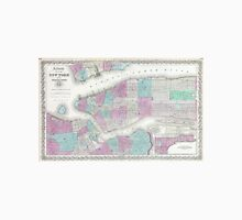 Vintage Map of NYC and Brooklyn (1861) Unisex T-Shirt
