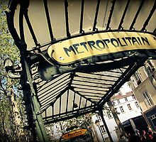 Abbesses Metro  by Caroline Fournier