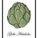 Globe Artichoke Watercolor Sketch by Sarah Countiss