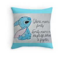 The Best Lilo and Stitch Quote Throw Pillow