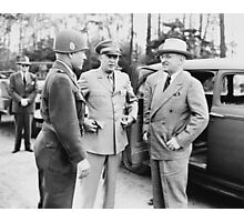 Truman, Eisenhower, And Hickey -- WWII  Photographic Print