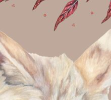Fennec Fox Feather Dreams in Taupe Sticker