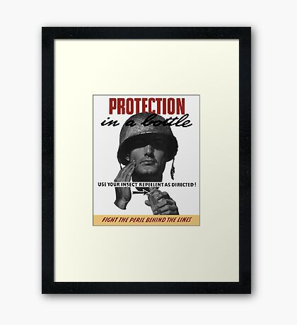 Use Your Insect Repellent As Directed! -- WW2 Framed Print