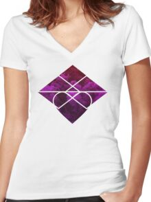 Ascension, Hinokami.  Women's Fitted V-Neck T-Shirt