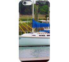 Boat Docked In Southport, NC iPhone Case/Skin
