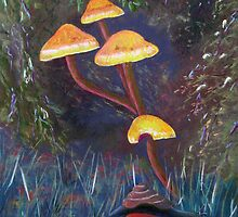 Hiding among the toadstools by Faye Doherty