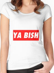 """Kendrick Lamar """"YA BISH"""" OBEY Style Women's Fitted Scoop T-Shirt"""