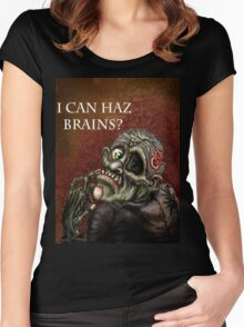 I can haz brains? Women's Fitted Scoop T-Shirt
