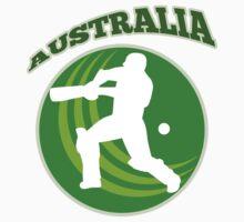 cricket player batsman batting Australia by patrimonio