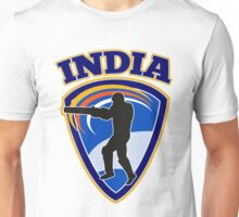 cricket player batsman batting India Unisex T-Shirt