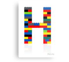 """""""H"""" Metal Print"""