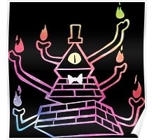Six-Armed Apocalypse Bill Cipher - Color Poster