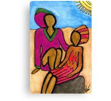 Sun Sistahs Canvas Print