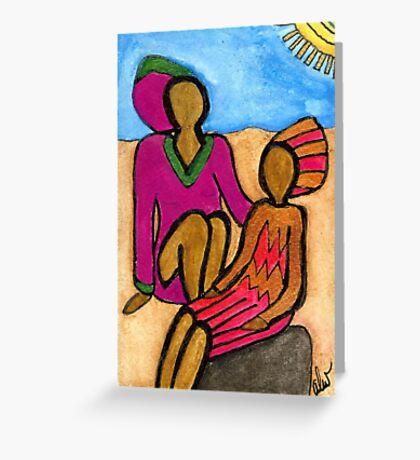 Sun Sistahs Greeting Card