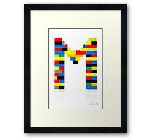 """""""M"""" Framed Print"""