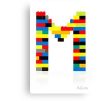 """M"" Canvas Print"