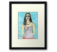 Colored Pencil Self-Portrait Framed Print