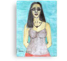 Colored Pencil Self-Portrait Canvas Print