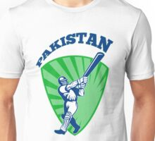 cricket player batsman batting Pakistan Unisex T-Shirt