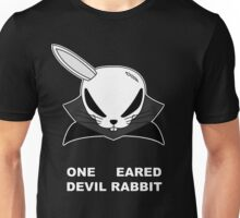 The Front of Armament - One eared Devil Rabbit Unisex T-Shirt