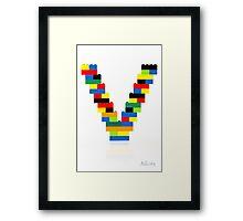 """""""V"""" Framed Print"""