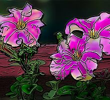Petunias by Penny Ward Marcus