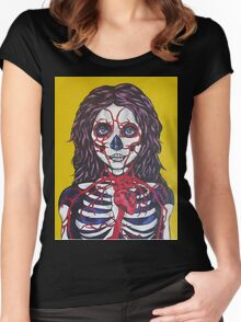 Trudging through oblivion WIP Women's Fitted Scoop T-Shirt