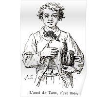Achille Sirouy Mark Twain Les Aventures de Huck Huckleberry Finn illustration p009 Poster