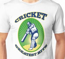 cricket player batsman batting greatest  hits retro Unisex T-Shirt
