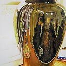 Black Vase (Self Portrait) by Deborah Holman