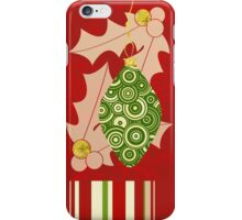 Modern Christmas, Modern holiday art iPhone Case/Skin