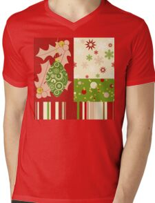 Modern Christmas, Modern holiday art Mens V-Neck T-Shirt