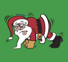 Santa Claus Doing Pushups One Piece - Short Sleeve