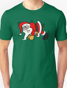 Santa Claus Doing Pushups Unisex T-Shirt