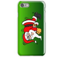 Santa Claus Doing Pushups iPhone Case/Skin