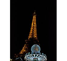Eiffel Tower and Carousel Photographic Print