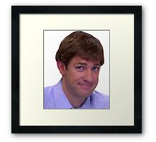 Jim's Smirk - The Office Framed Print