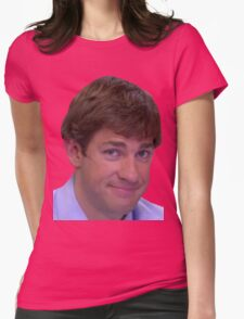 Jim's Smirk - The Office Womens Fitted T-Shirt