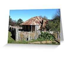 Louis Beyers Cottage, Hill End  Greeting Card